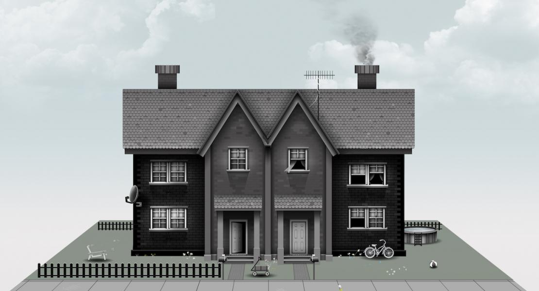 Weex Semi Detached House Illustration