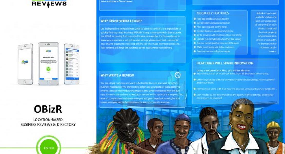 OBizR Sierra Leone Mobile App And Open Data Platform